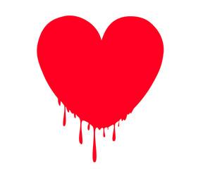 Heart vector illustration line art