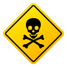 Abstract Danger Sign With Skul...