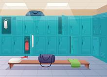 School Changing Room. College ...