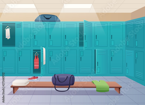 School changing room Canvas-taulu