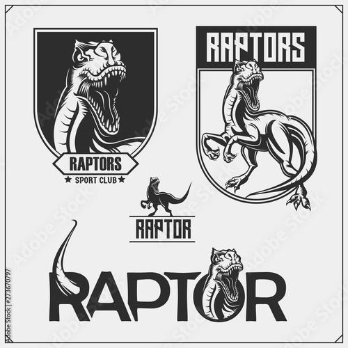 Photo  Raptor dinosaur mascot