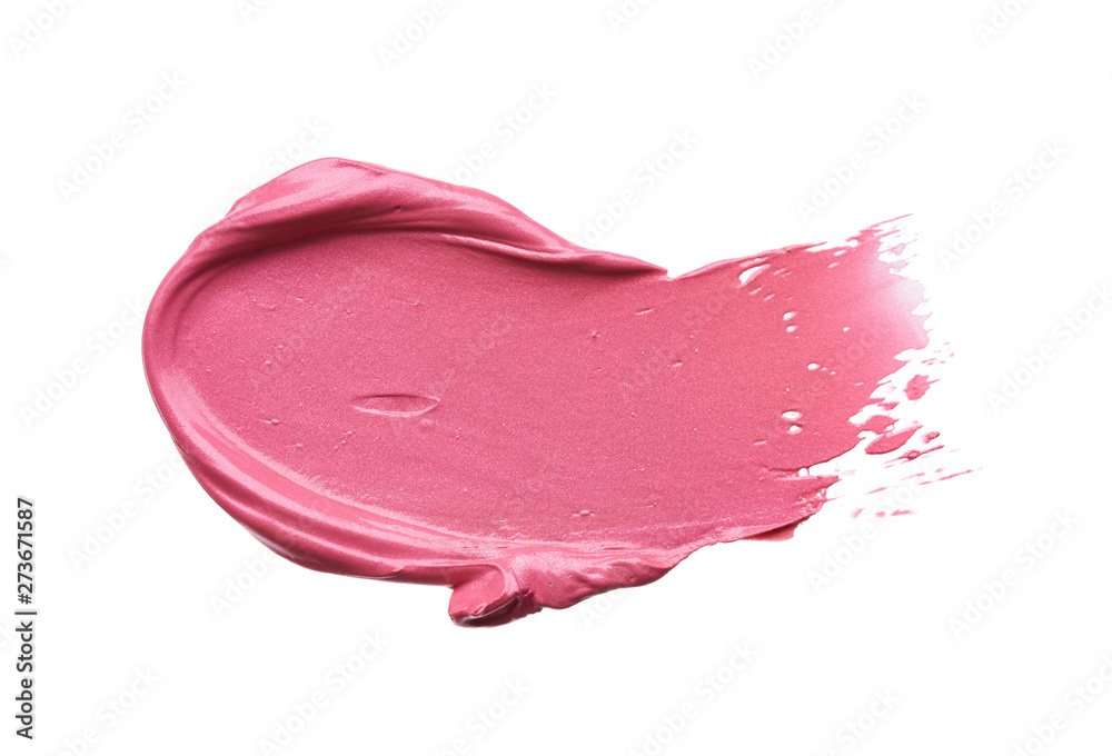 Fototapety, obrazy: Gently pink strokes and texture of lip gloss