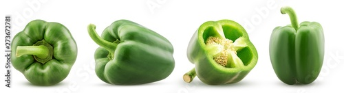 Set green bell pepper Fototapeta