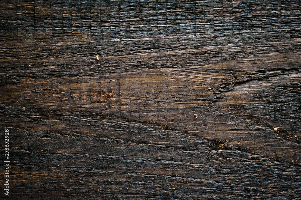 Fototapety, obrazy: Rustic wooden fence texture background of natural brown and yellow colors