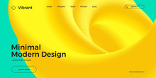Trendy Design Template With Fl...