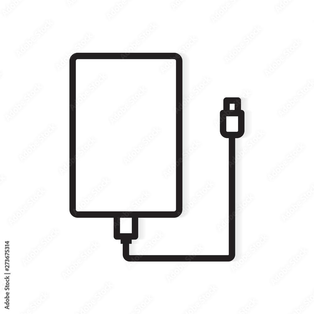 Fototapety, obrazy: external hard drive icon- vector illustration
