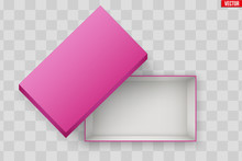 Blank Of Open Pink Shoe Box