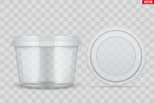 Set Of Clear Plastic Container...
