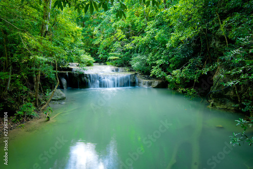 Fototapety, obrazy: water fall in green forest