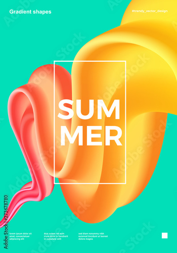 Trendy design template with fluid and liquid shapes. Abstract gradient backgrounds. Applicable for covers, websites, flyers, presentations, banners.