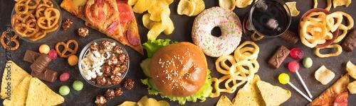 Unhealthy Eating Obraz na płótnie