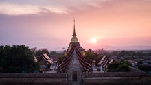 Aerial View Of Wat Phra That Lampang Luang Is A Temple In Lampang Province, Thailand