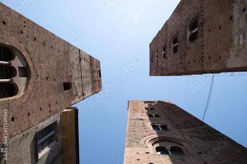 The three towers, symbol of the town of Albenga, Liguria, Italy. Wallpaper Mural