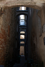 Alley With Stone Arches. Alben...