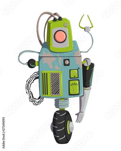 Photo Cartoon robot character