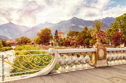 Fotografía  View from Via Roma, Merano, Trentino-Alto Adige, Italy, xxl+more: bartussek