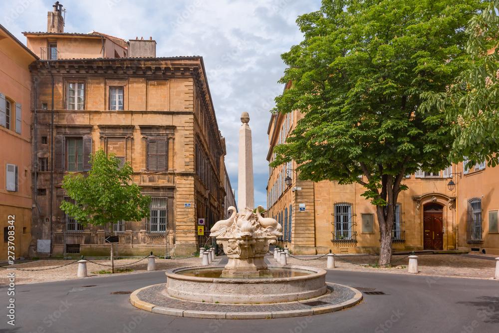 Fototapeta Aix Cathedral in Aix-en-Provence, France