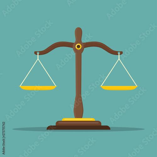 Fotografering  Justice scales icon
