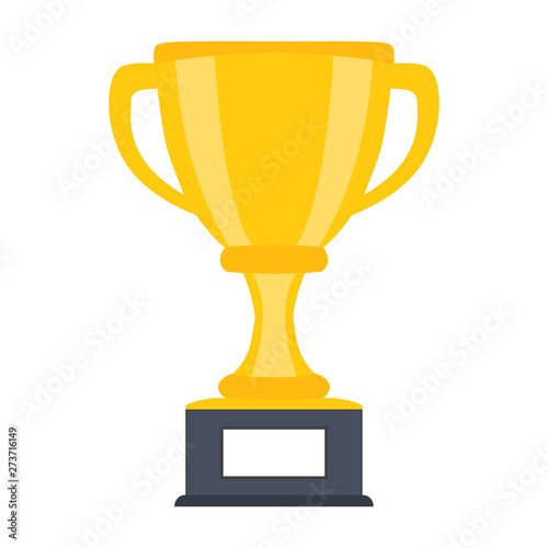 Obraz na plátně Trophy cup, award, vector icon in flat style