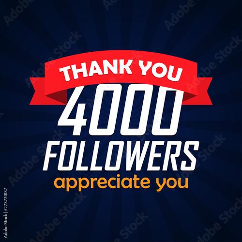 Fotografia, Obraz  Thank you followers congratulation background