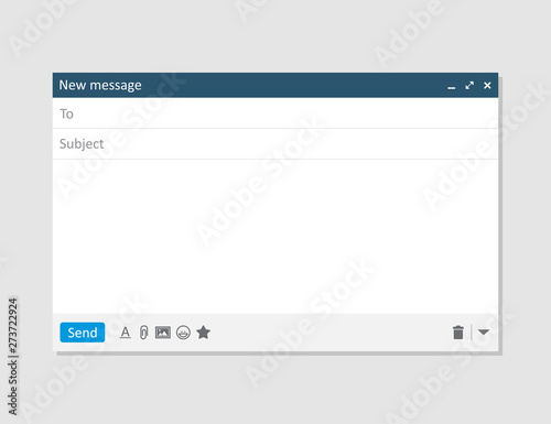 Fotomural Email blank template internet mail frame interface for mail message
