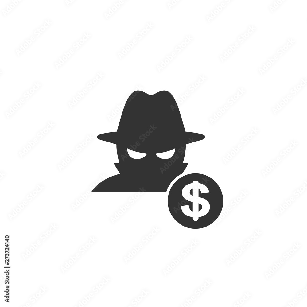 Fototapeta Fraud icon in simple design. Vector illustration
