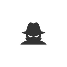 Spyware Icon In Simple Design....