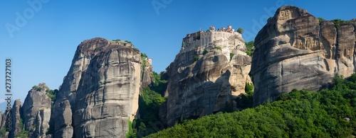Fotografie, Obraz Meteora Monastery Greece on rocky mountain panorama