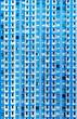 Leinwanddruck Bild - Close up vertical building