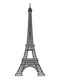 Fototapeta Fototapety z wieżą Eiffla - Eifel tower silhouette. Vector illustration