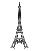 Eifel Tower Silhouette. Vector...