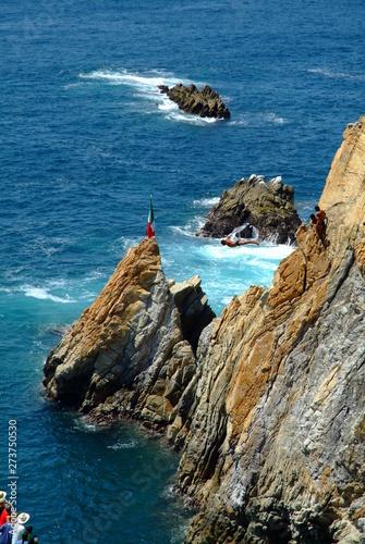 Fotografie, Tablou La Quebrada Cliff Divers Acapulco Mexico