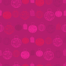 Vector Red Seamless Pattern Wi...