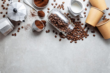 Ingredients for making coff...