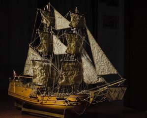 modeliranje: engleski brig - drveni jedrenjak