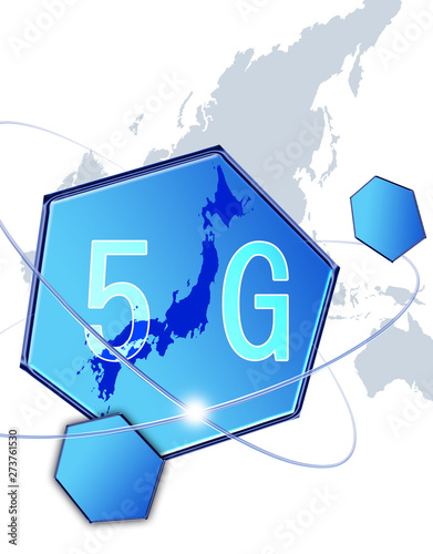 Pinturas sobre lienzo  5G 次世代 情報通信 第五世代 高速通信 テクノロジー