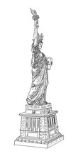 US Statue Of Liberty Drawing. ...