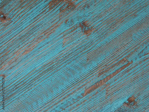 weather wood painted in tropical  blue