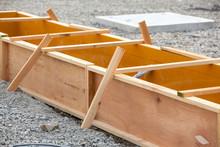 工事現場の木製型枠