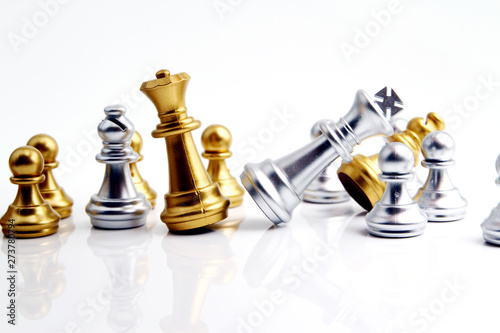 Fototapeta Chess on white background