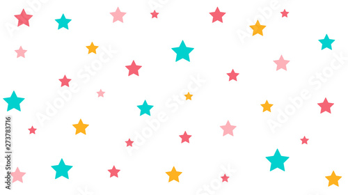 Abstract Stars pattern with Soft gradient pastel background in sweet color