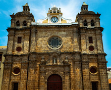 Church Of Saint Peter Claver Located In Cartagena, Colombia