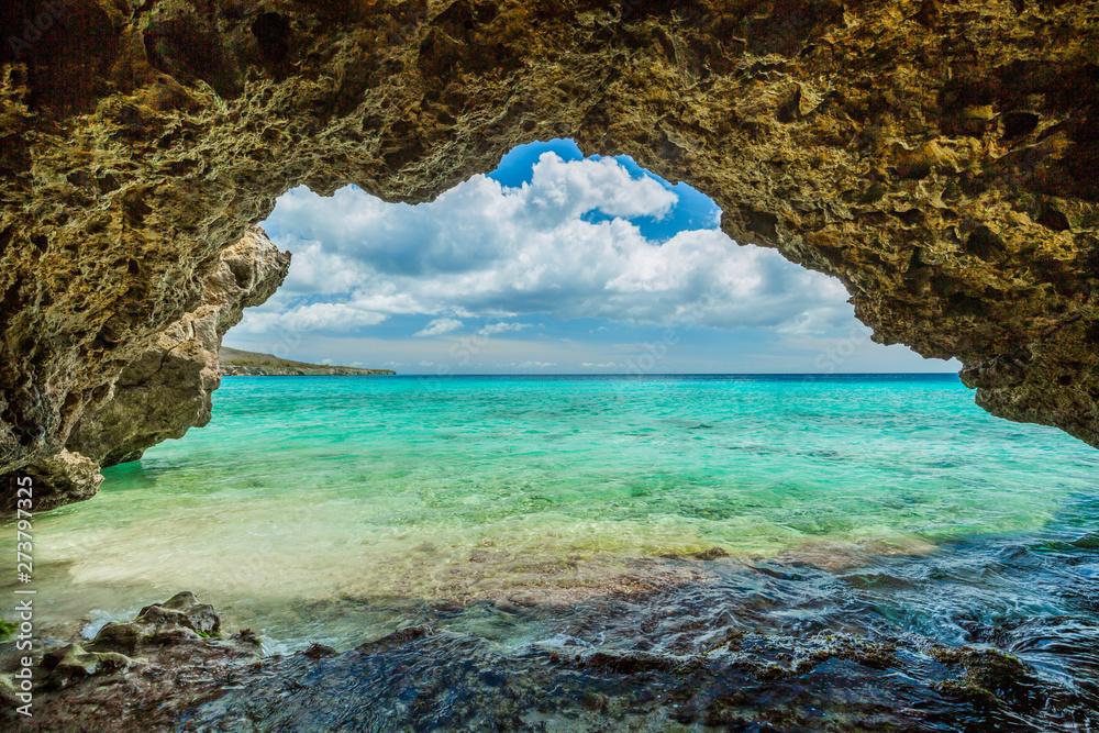 Fototapety, obrazy: Grote Knip beach, Curasao Tropical beach