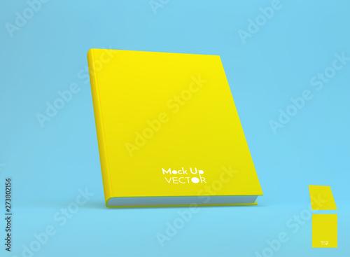 Obraz na plátně  Realistic book mockup