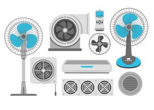 Air Conditioning Fan And Industrial Ventilation Conditioner And Exhaust