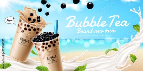 Bubble milk tea ads