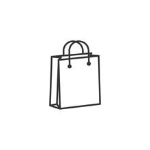 Shoping Bag Icon Black Color E...