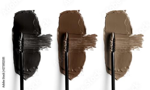 Fotografija Set of eyebrow mascara swatches