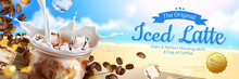 Iced Latte Ad Banner
