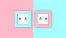 LAN Wall Socket In 2 Different Alternating Colors.
